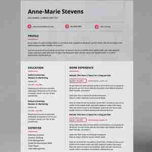 Modern, black, white and subtle pink, double page, creative professional resume template.
