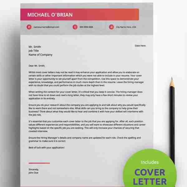 Best Resume Format Pdf Gradient Style Modern 2 Page Cv Template
