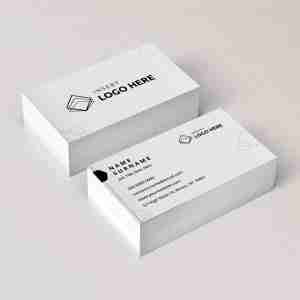 A Diy My Design business card template showing where to upload your logo and edit your details.
