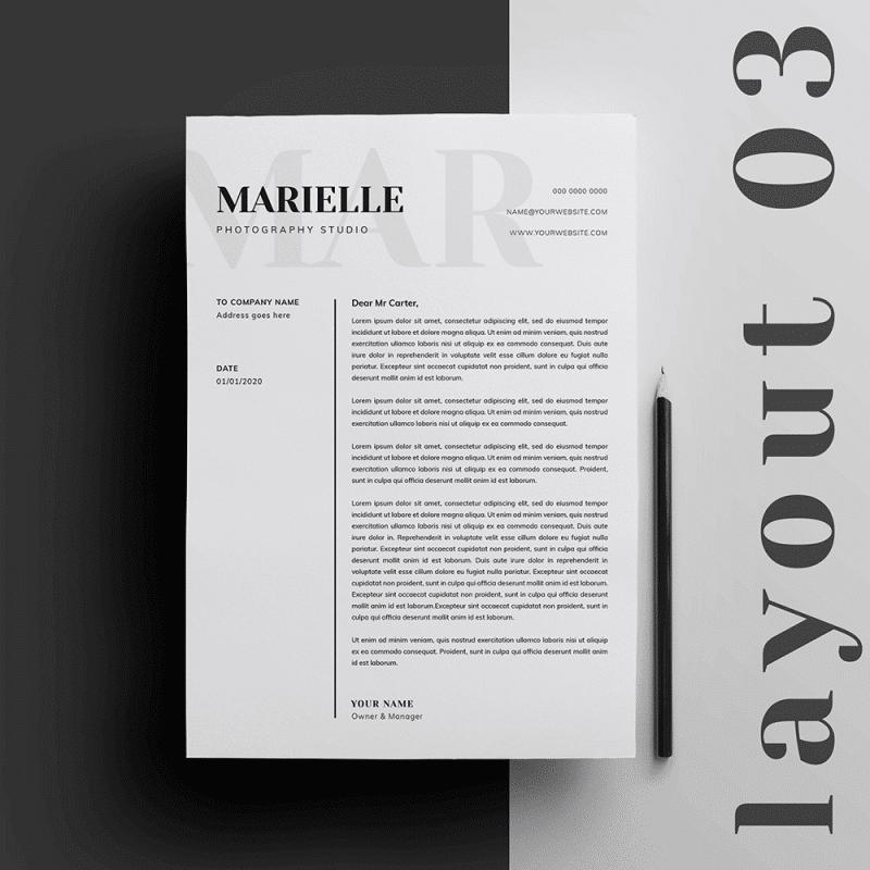 Editable Letterhead for Mac