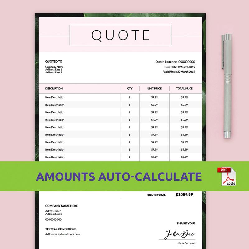 Custom Order Form Template PDF