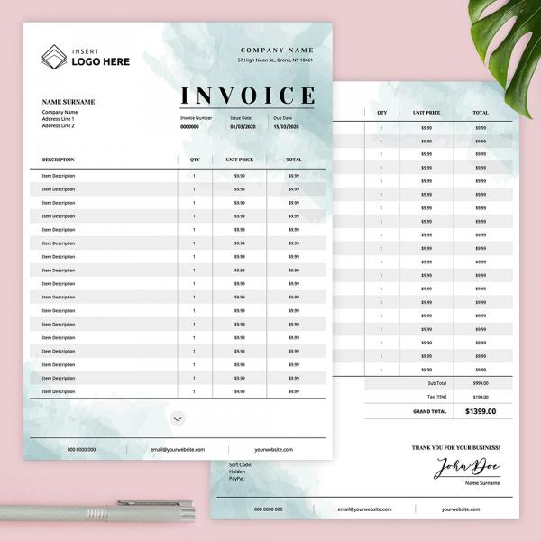 Feminine Invoice