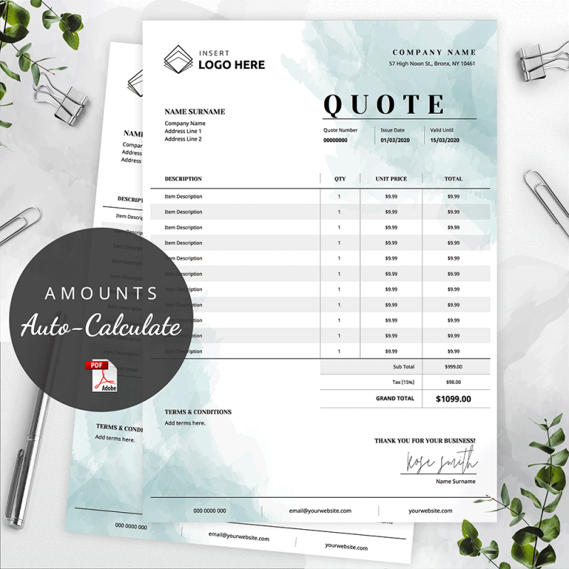 order form template