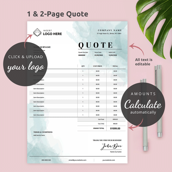 Editable PDF Quote Template