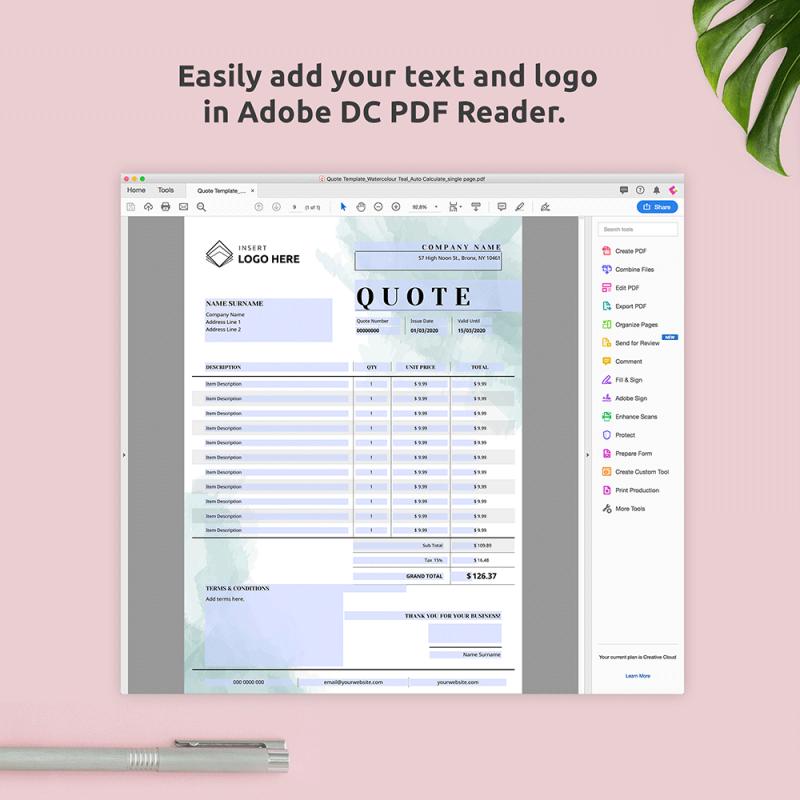 Quotation PDF Template