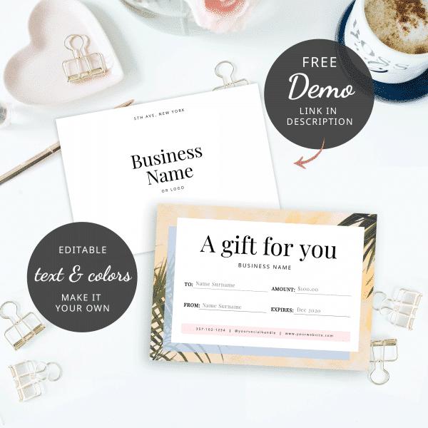 demo gift voucher design