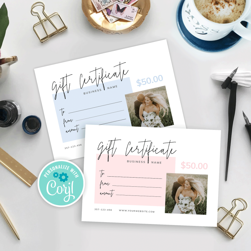 corjl gift certificate template