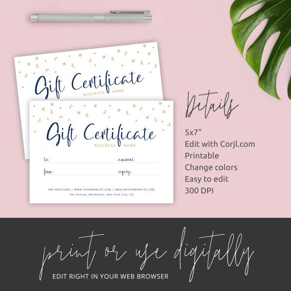 celestial gift certificate