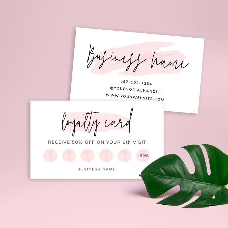 customer rewards card template