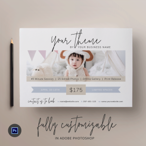 photography mini-session flyer template