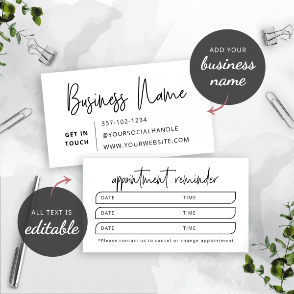 appointments card design