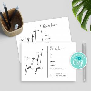 minimalist gift voucher template