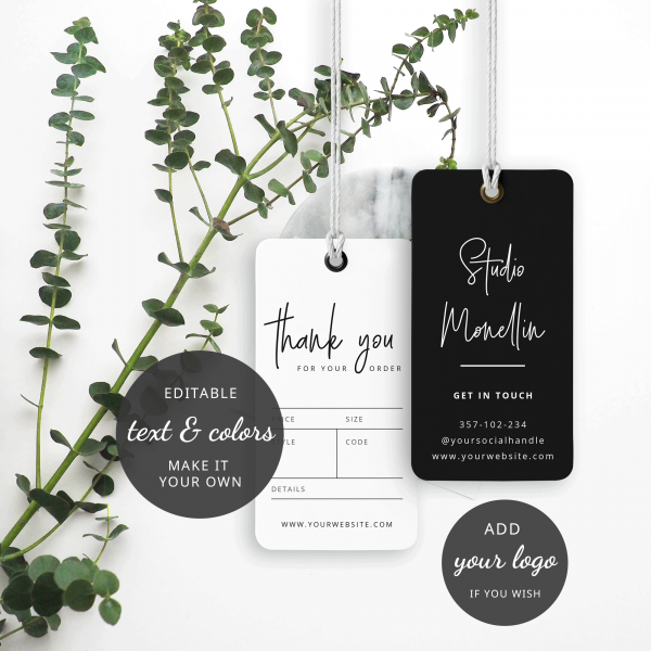 simple clothing tag template