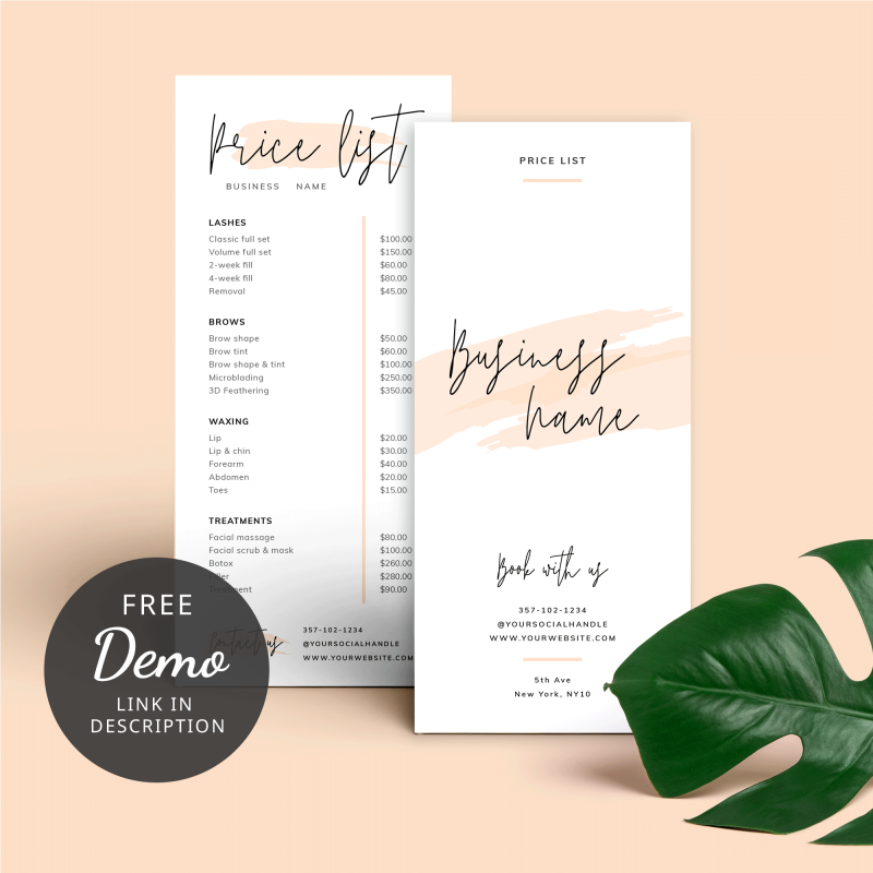 cream watercolour brice list template