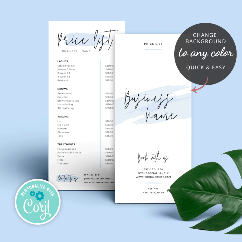 baby blue price list