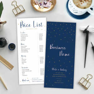 Celestial MS word price list template