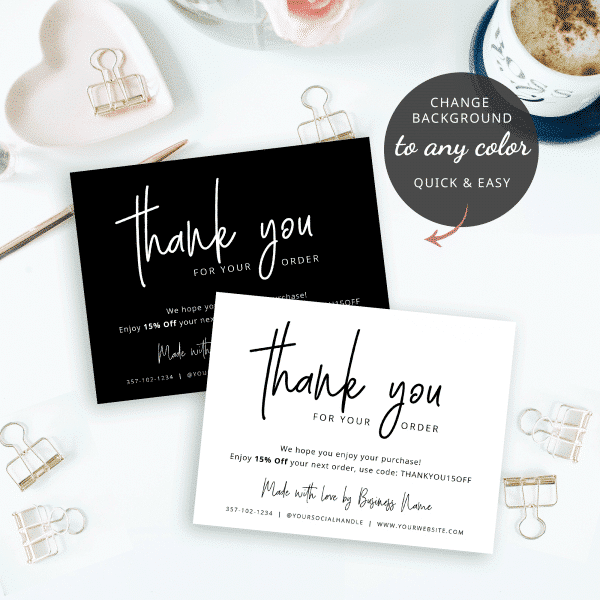 thank you for shopping template