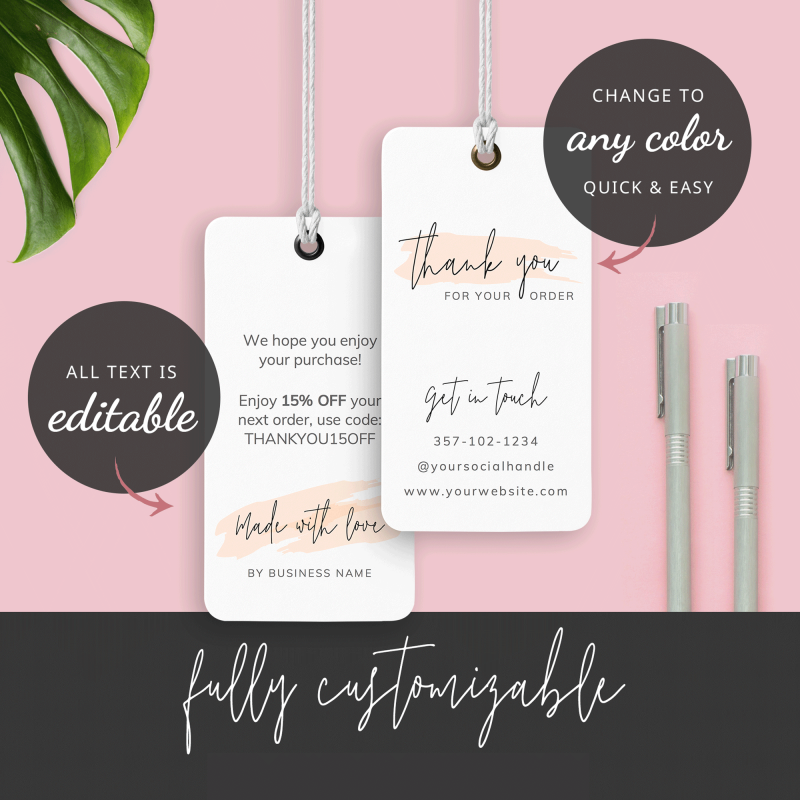 fully editable clothing tag design