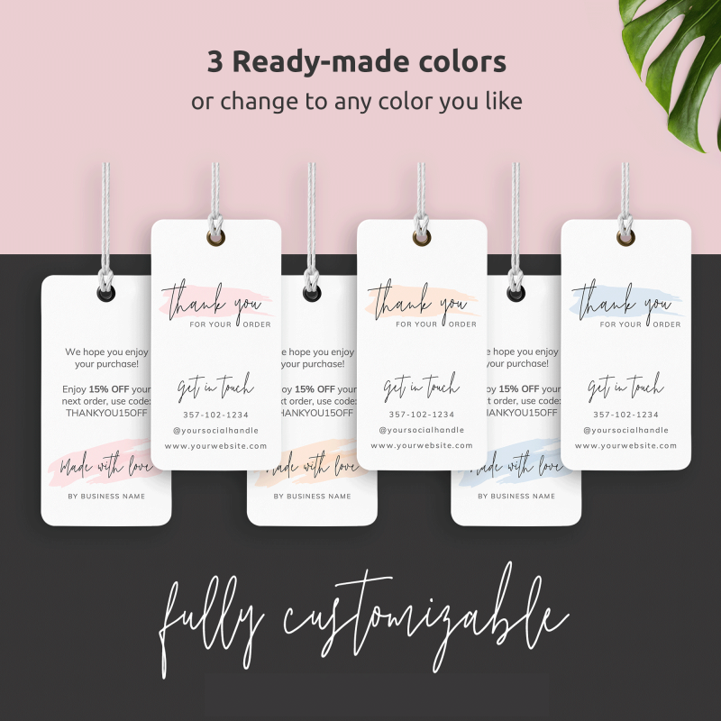 Three colours clothing tags template