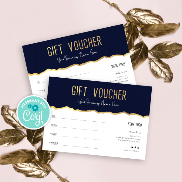 beauty gift voucher template