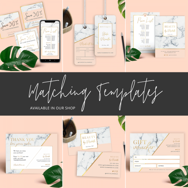 marble and gold matching stationery