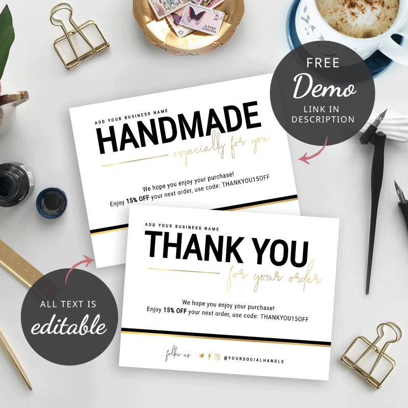 business thank you card design