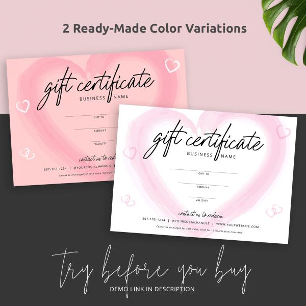 editable gift cards