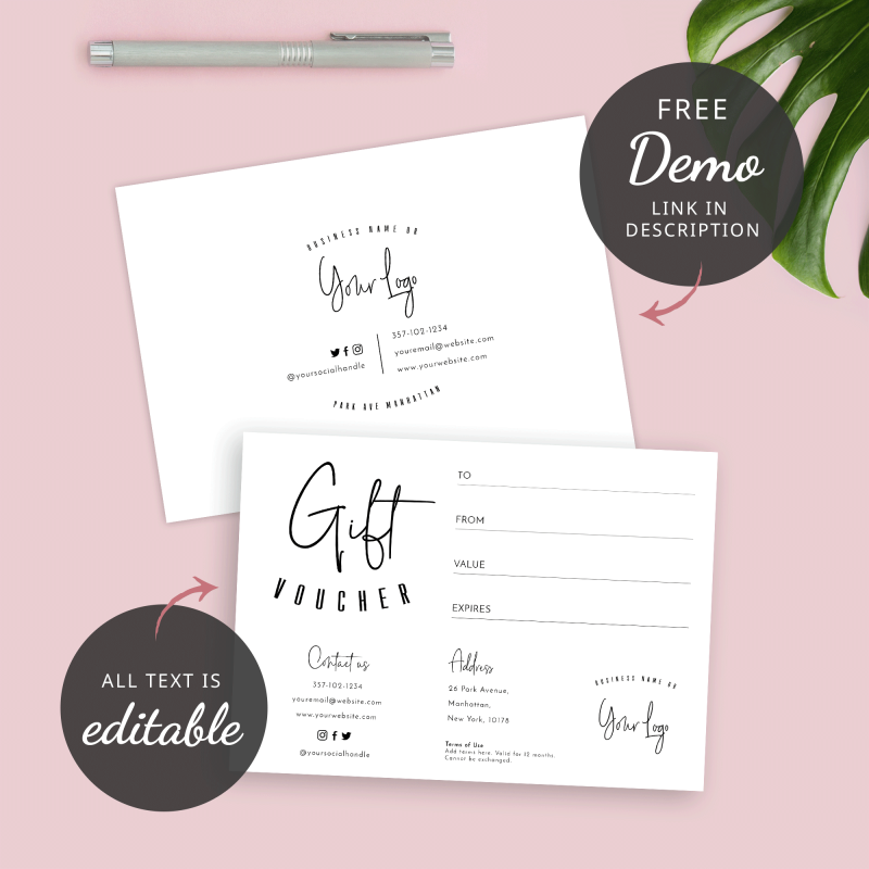 gift voucher front and back