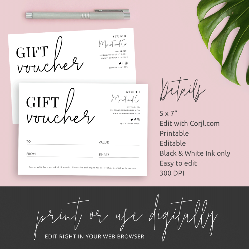 simple gift certificate