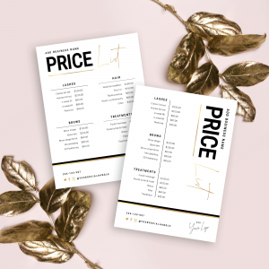 Faux gold Price List Template