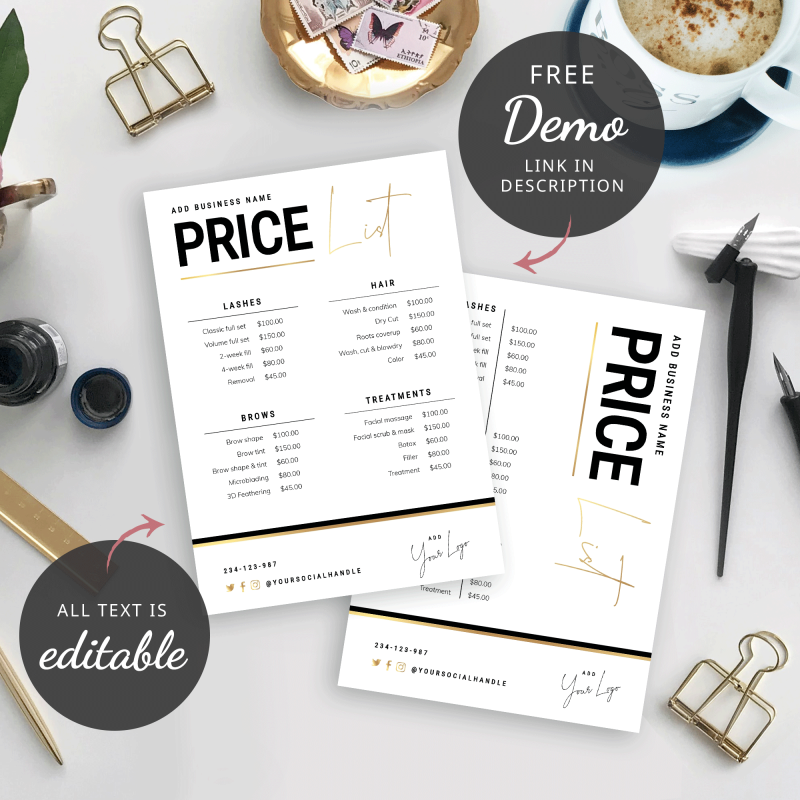 Faux Gold Price List