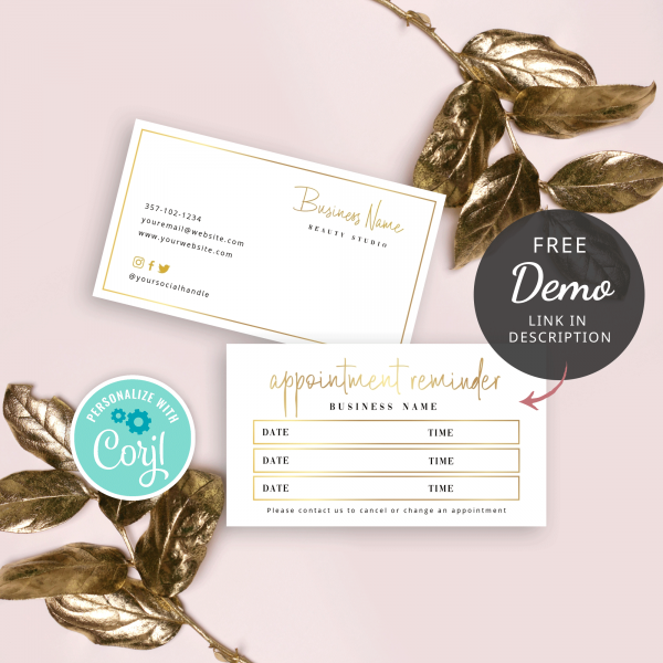 faux gold appointment reminder
