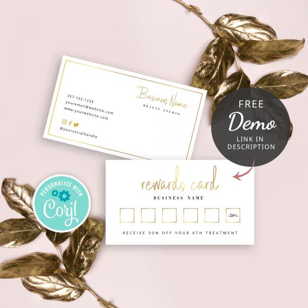 faux gold rewards card