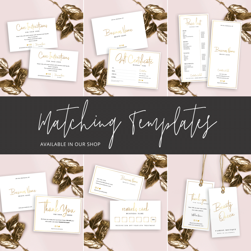 gold foil stationery set