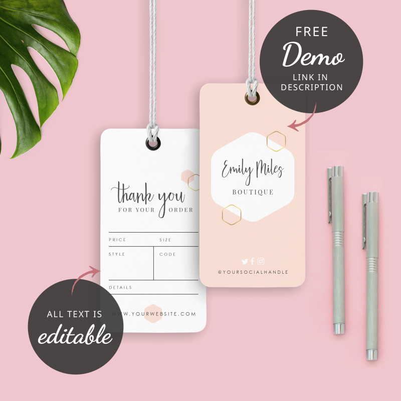 geometric design swing tags