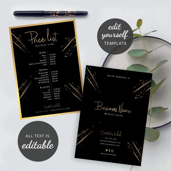 lux faux gold menu