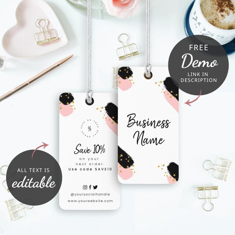 girly hang tag design