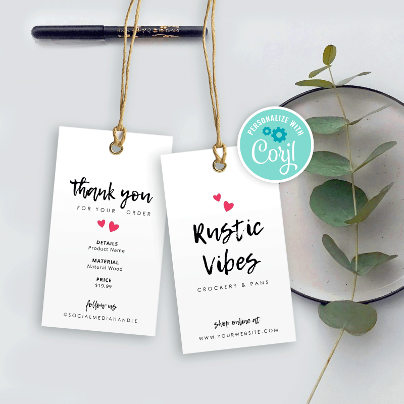 chalk effect hang tag template