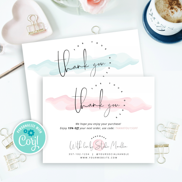 elegant design thank you note