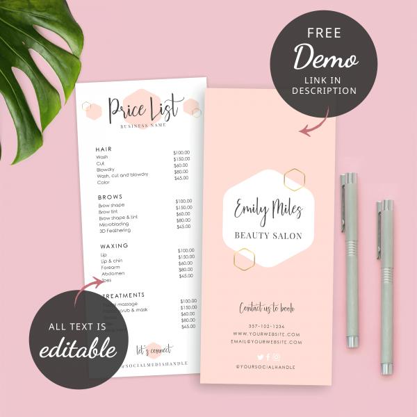cream menu design