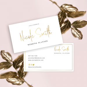 faux gold business cards