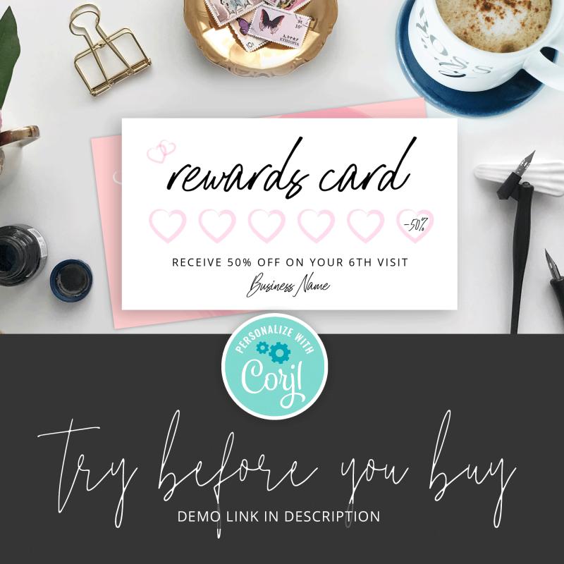 beauty rewards card