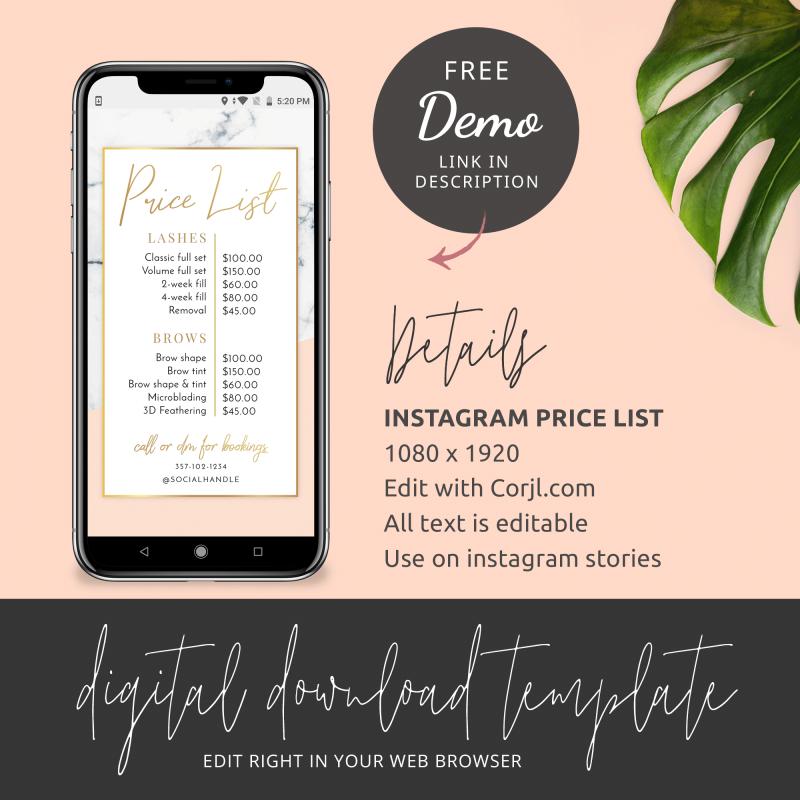 instagram story menu design