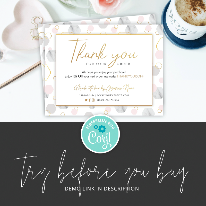 try thank you card template