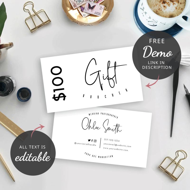 mini gift card template