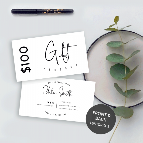 black and white gift vouchers
