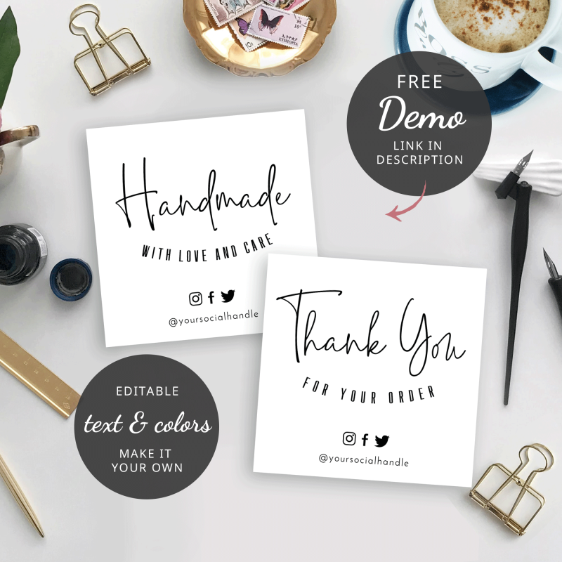 square thank you cards template