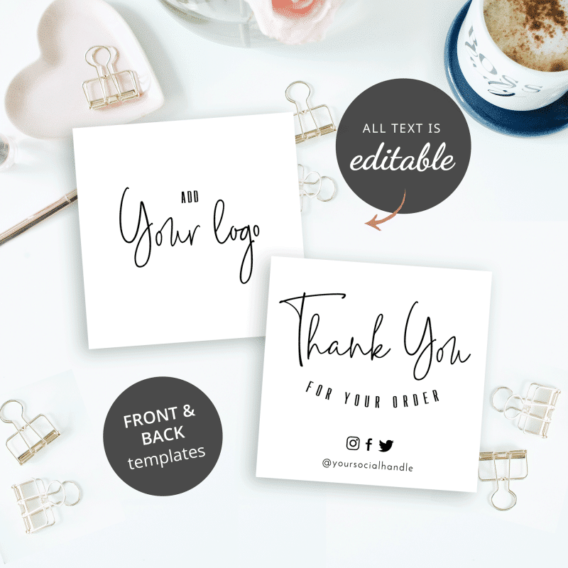 black and white thank you for shopping template