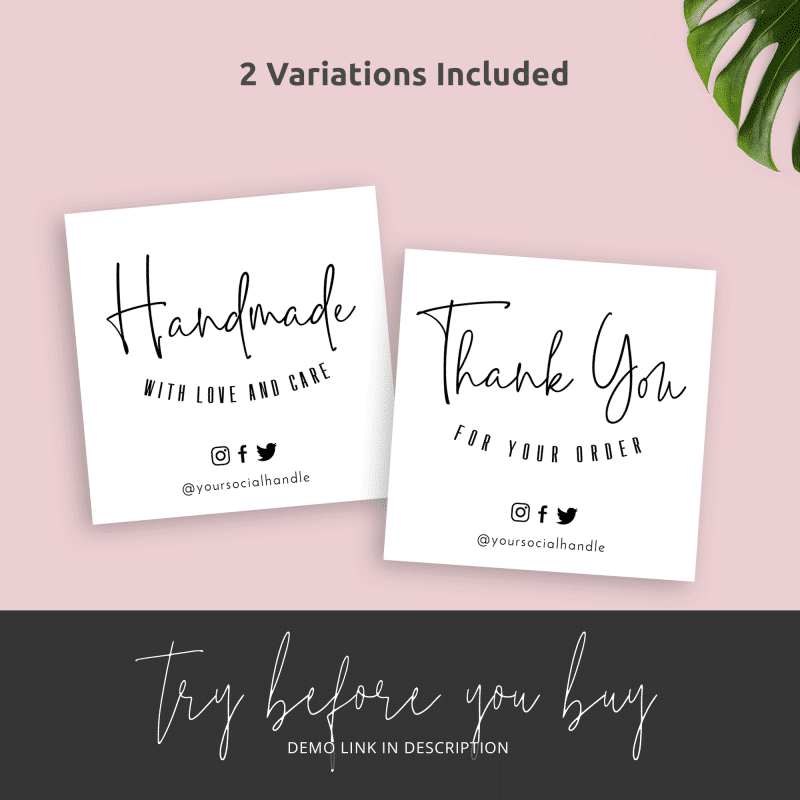 business thank you parcel inserts