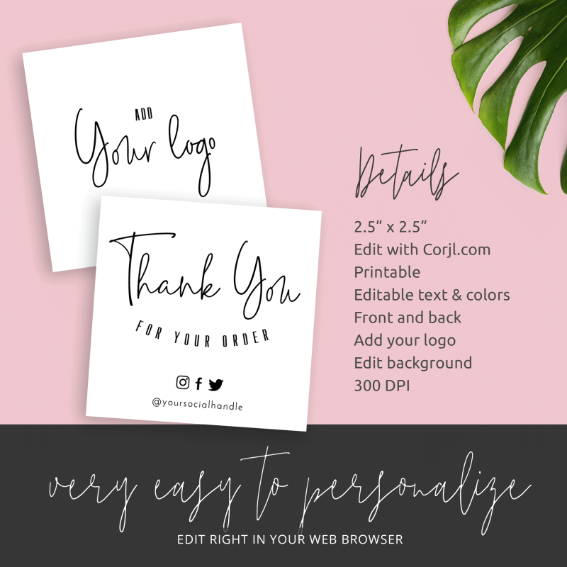 thank you for purchase mini cards